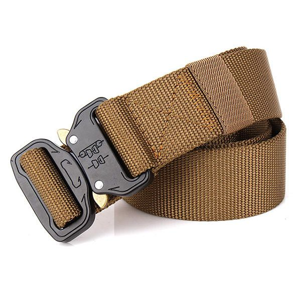 125CM Mens Nylon Outdoor Tactical Military Army Belt Heavy Duty Buckle Waistband at Banggood