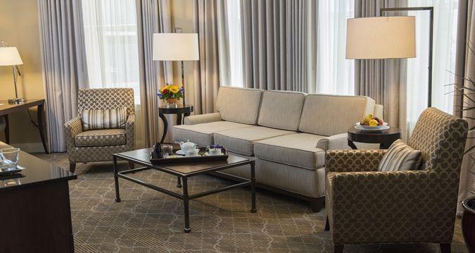 The Skirvin Hilton Oklahoma City Hotel, OK - Suite Living Room | OK 73102