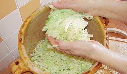 Un uso tradizionale del cavolo cappuccio è la preparazione dei crauti, che si ottengono sottoponendo le sue foglie a una particolare fermentazione