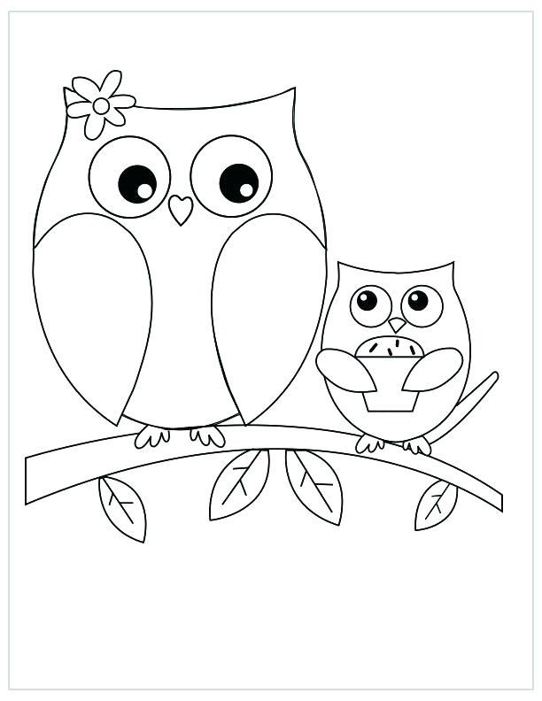 Owl Coloring Pages For Adults To Print Mothers Day Coloring Pages Owl Coloring Pages Coloring Pictures For Kids