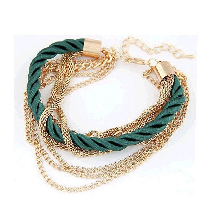 Lauren Woven Chain Bracelet