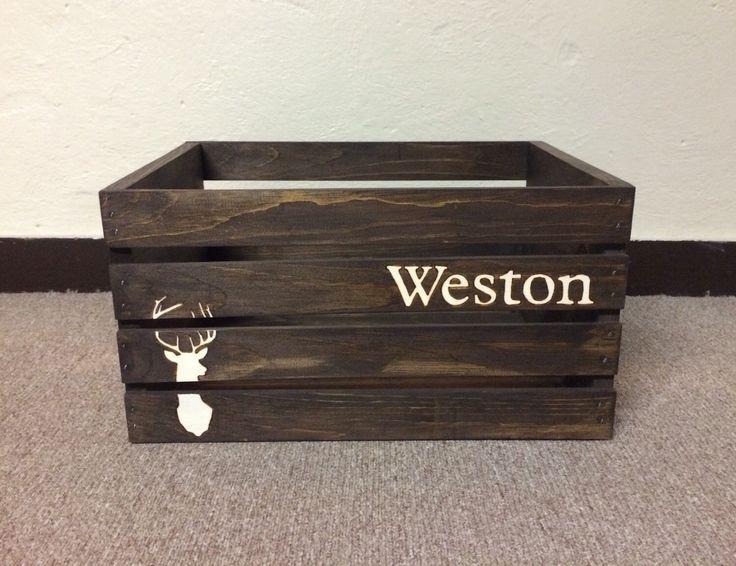 Rustic Nursery, Deer Nursery Decor, Woodland Nursery Decor, Deer Decor, Rustic Toy Box, Deer Toy Box by TishieMDesigns on Etsy https://www.etsy.com/listing/215563355/rustic-nursery-deer-nursery-decor