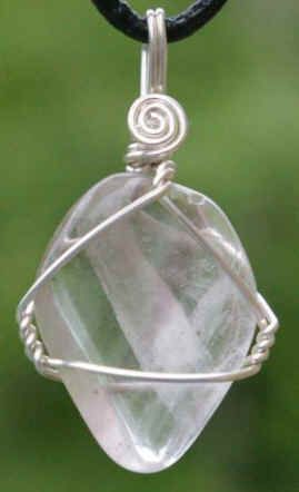NOTE:  Inspiration To Mix Or Replace With Sea Glass Simple but lovely wire wrap stone