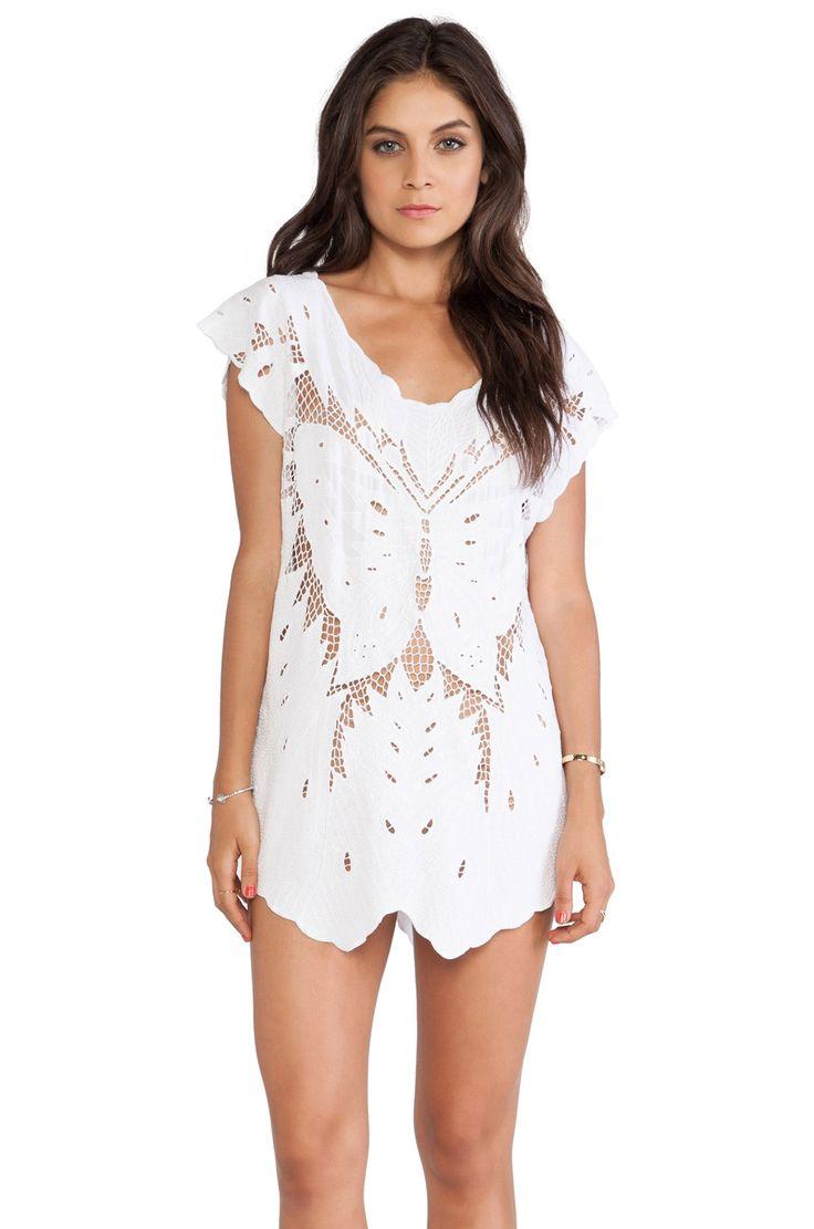 Indah X REVOLVE Lucia Krawang Mini Dress in White