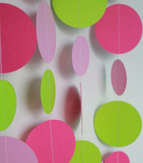 Birthday Party Decorations . Paper Garland Party Decoration . 5 Feet Long on Etsy, $5.00