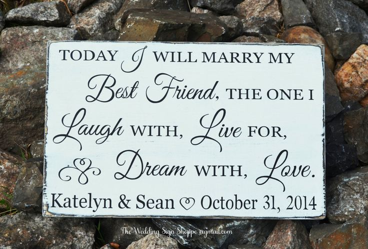 Good Wedding Gifts For Friends: Rustic Wedding Sign Personalized Wedding Gift Today I Will