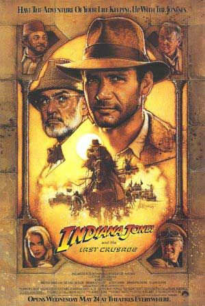 Indiana Jones and the Last Crusade (1989)  When Dr. Henry Jones Sr. suddenly goes missing while pursuing the Holy Grail, eminent archaeologist Indiana Jones must follow in his father's footsteps and stop the Nazis.