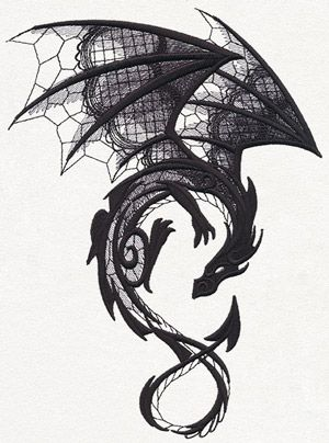 1125855 Dark Creatures - Dragon design (UT11779) from UrbanThreads.com largest size   tatuajes | Spanish tatuajes  |tatuajes para mujeres | tatuajes para hombres  | diseños de tatuajes http://amzn.to/28PQlav