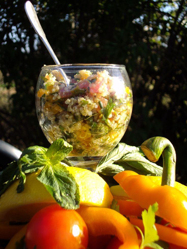 recette entrée pauvre en FODMAPs de Julie Delorme : taboulé de quinoa