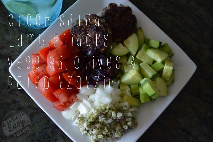 Easy Paleo Lamb Sliders serve with Paleo Tzatziki Sauce #StupidEasyPaleo