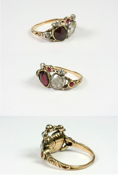 Ian spent half a years wages on my ring said Jenny....     Rare Georgian Wedding Ring, c. 1740 - 1760 from metierparis on Ruby Lane