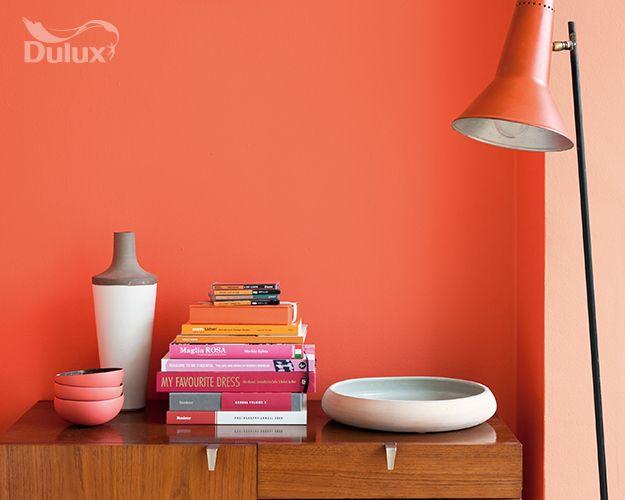 Orange From Dulux Paintbrush Strokes Pinterest