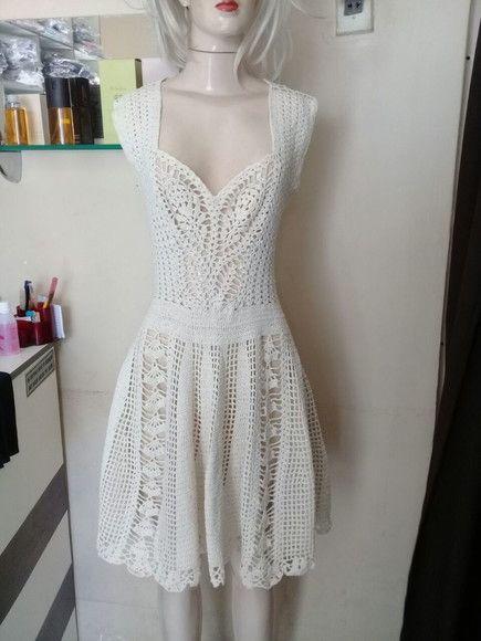 e42ecc940 Compre vestido de crochê no Elo7 por R  280