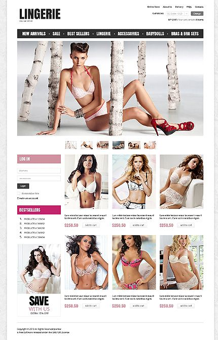 Lingerie inspirations at the Coffee Break? Browse for more Last added and VirtueMart templates! // Regular price: $140 // Unique price: $2500 // Sources available: .HTML, .PSD, .PHP, .XML, .CSS, .JS // #Fashion #Lastadded #VirtueMart #templates #lingerie #onlineStore