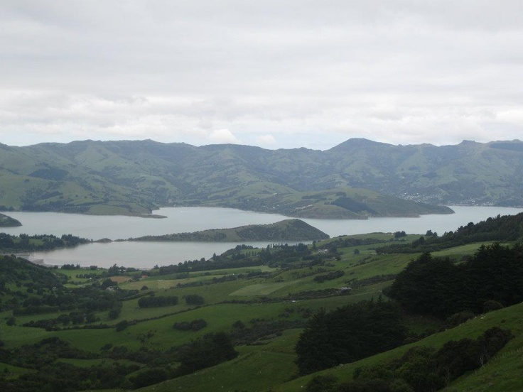 Akaroa NZ. Great Aunt from CHCH took us here one day... can see why