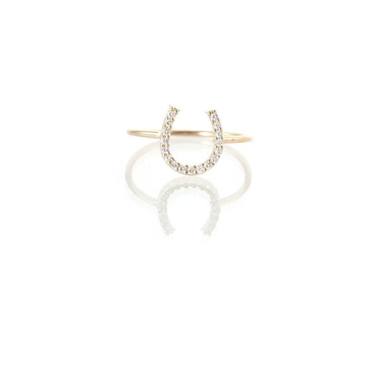 Zoe Chicco: 14k pave horseshoe ring