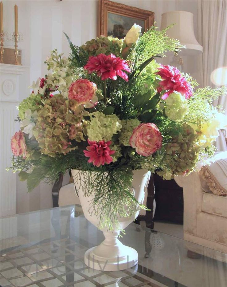 289 best typically unique flowers and giftware images on pinterest hydrangeas and ranunculus in cream urn artificial silk flower arrangement available on ebay mightylinksfo Gallery