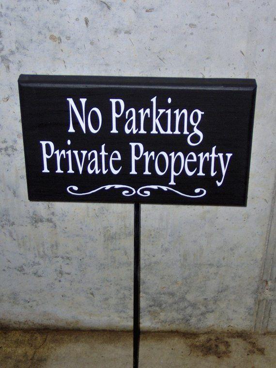 PARKING Wood sign
