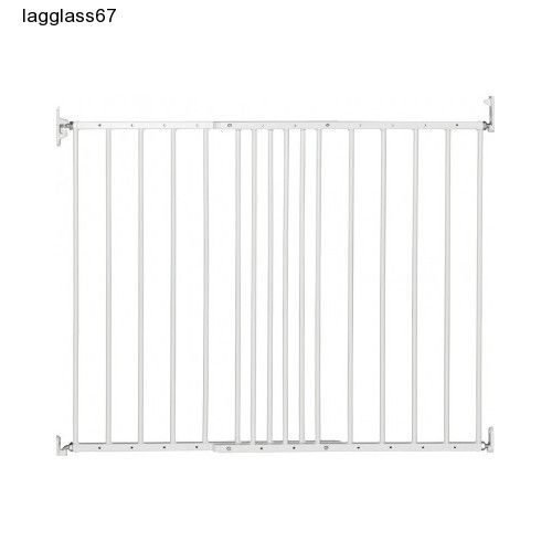 Extending Children Baby Toddler Dog Pets Wide Metal Safety Gate Doors White NEW #BabyDan