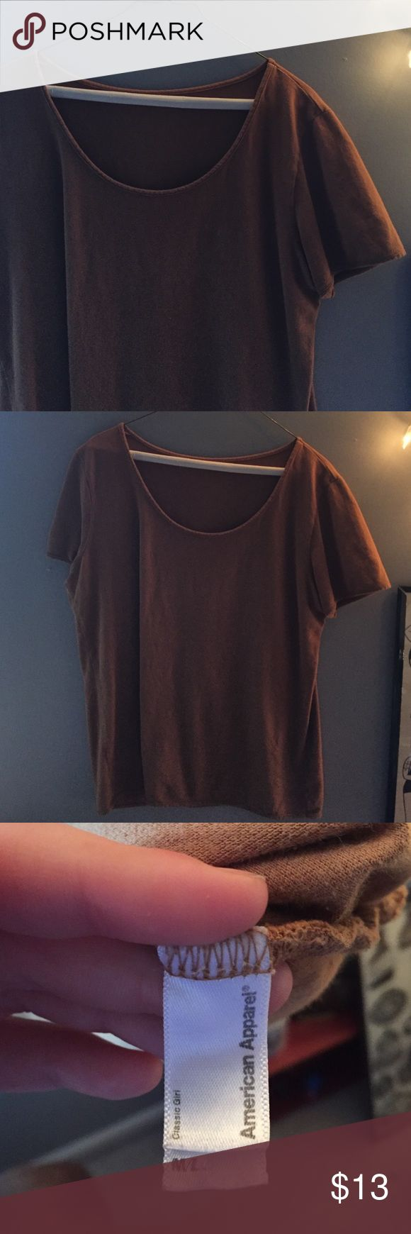 Camel American Apparel Tee Classic go to. Simple camel tee. Goes well with just about anything. Great quality. American Apparel Tops Tees - Short Sleeve