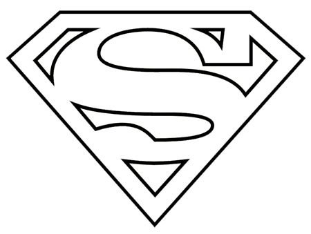 Superman logo clipart black and white - ClipartFest