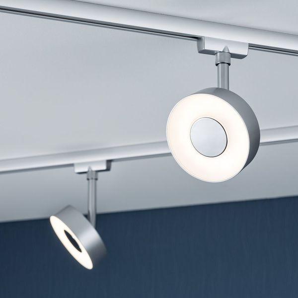 A Modischer Led Spot Circle Fa R Urail Stromschiene In Chrom Matt Paulmann 95271 Led Spots Lampen Schienensystem Wohnzimmer Dekor Modern