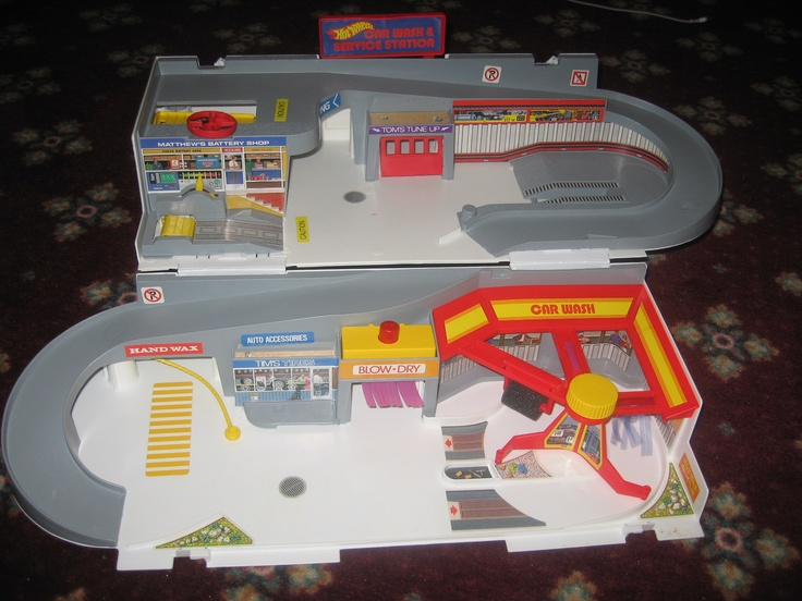 Hot Wheels Car Wash and Service Station Toys of the 80s