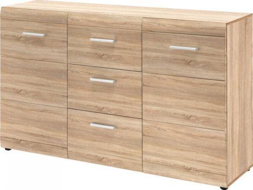 Beautiful Details zu Sideboard Dresden Kommode Anrichte Schubladen Flur B ro Schrank Sonoma Eiche