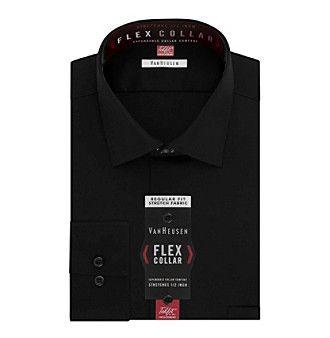 Van Heusen Men's Flex Collar Stretch Regular Fit Solid Dress Shirt