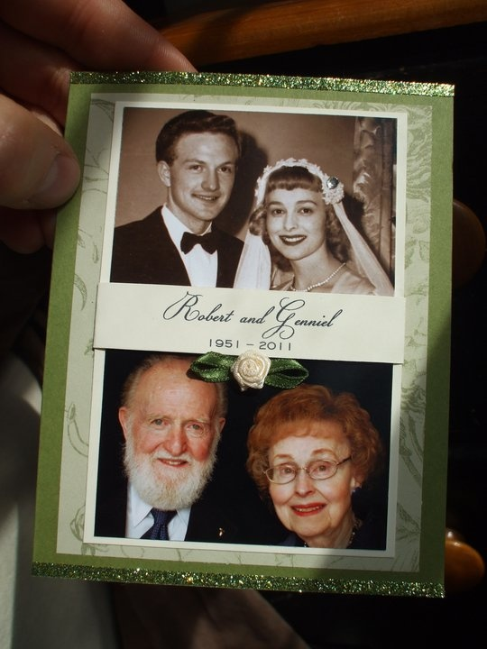 Invitation I made for my parents' 60th Wedding Anniversary.