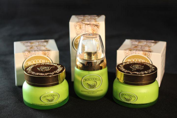 Crocodilia's Youth Retain Trio Pack -Crocodile Oil & Pomegranate Face Serum, Crocodile Oil & Rosehip Night Cream & Crocodile Oil & Pomegranate Day Cream. Rich in Omega 3,6 & 9.