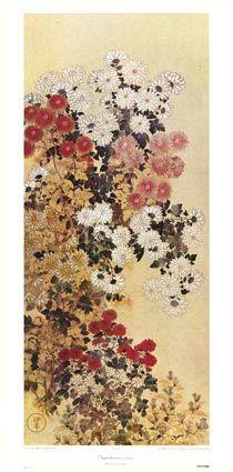 Chrysanthemums - Kitagawa Sosetsu Poster :: PicassoMio