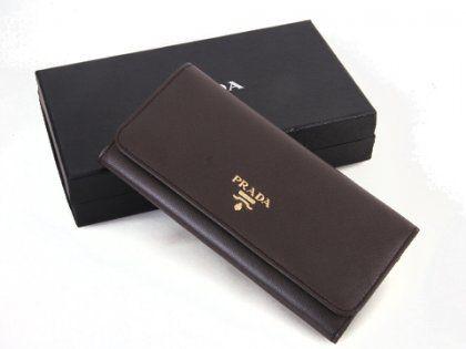 Cheap Prada 1M1132 Coffee Long Wallets For Sale | Prada Outlet Store
