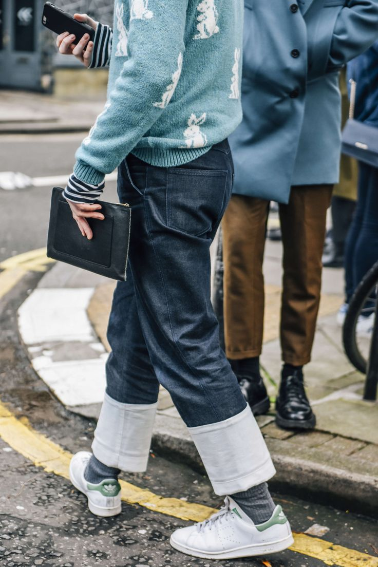 January 10, 2016 Tags Blue, Jeans, Stripes, Adidas, Denim, London, Men, Prints, Sneakers, Clutches, Knitwear, Sweaters, Adidas by Raf Simons, FW16 Men's