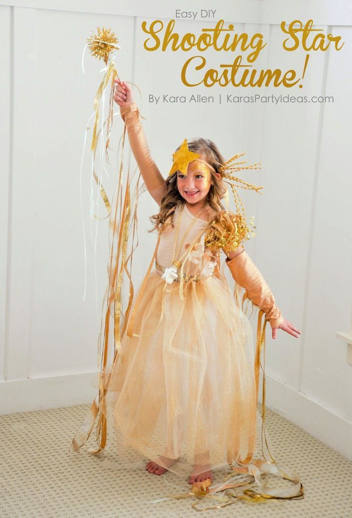 Easy DIY Shooting Star Halloween Costume by MichaelsMakers Kara's Party Ideas