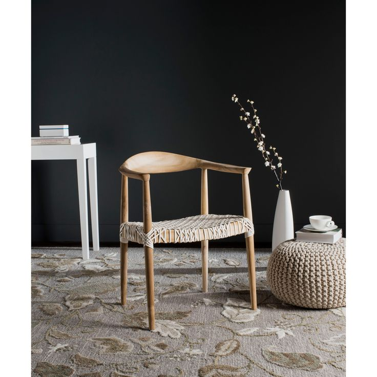 Safavieh Rural Woven Dining Bandelier Light Oak Arm Chair | Overstock.com Shopping - The Best Deals on Living Room Chairs