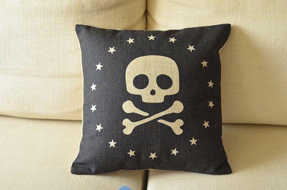 cotton linen Fabrics shade pillow pillow sham Pirate Gothic style Pillow Cover pillow pattern black cushion cover case pillowcase