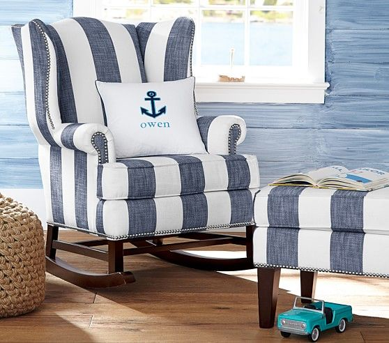 "Love the fabric and style of this chair.  One of my favorite ways to ""Make Way for Baby!"" [Promotional Pin]"