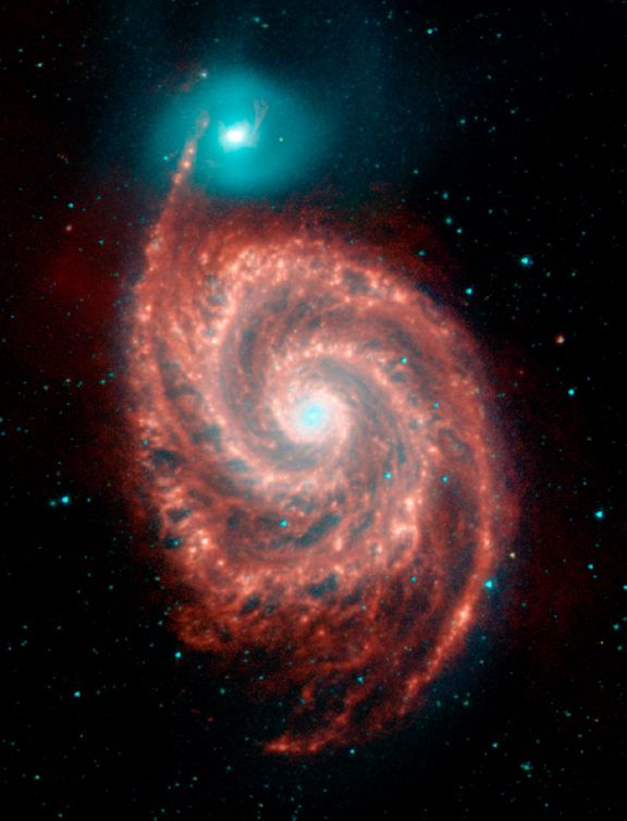 collision of two galaxies, the Whirlpool!!!                                                                                                                                                     More