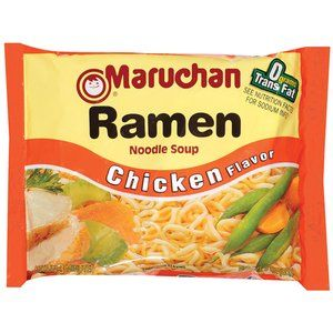 Maruchan Ramen Noodle Chicken Flavor. This is the ramen I eat when I can have the professional ramen!