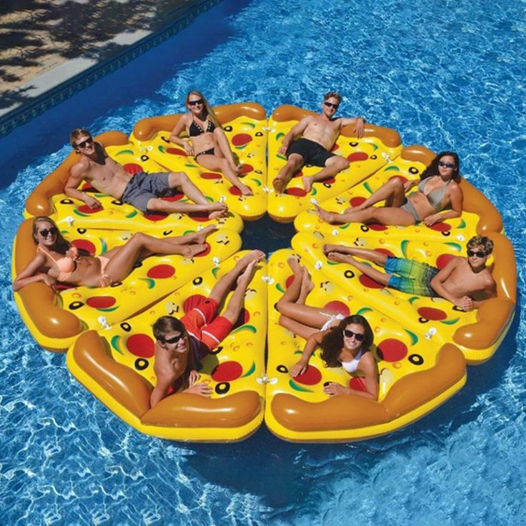 Inflatable Pizza Swimming Floats Water Pool Toys Inflatable Swim Ring For Fun Adult Giant Swimming pool Toys Air Mattress