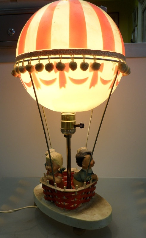 vintage hot air balloon dolly toy company lamp 75 memory lane pinterest toys vintage and. Black Bedroom Furniture Sets. Home Design Ideas
