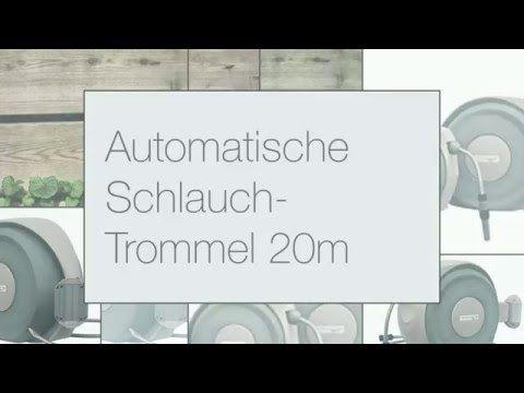 Garten Deko automatische Schlauch-Trommel 20m - YouTube
