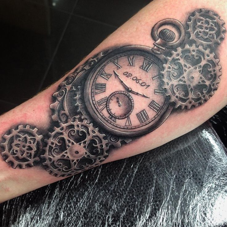 Pocket Watch Steampunk Tattoo Design                                                                                                                                                                                 More