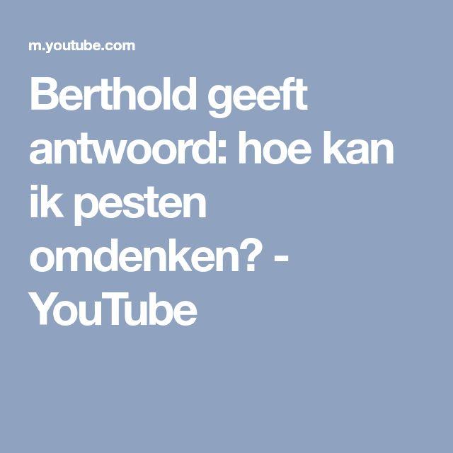 Berthold geeft antwoord: hoe kan ik pesten omdenken? - YouTube