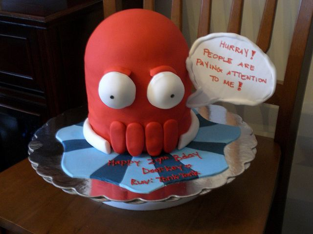Zoidberg birthday cake
