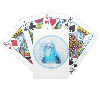 Dolphin Bicycle Playing Cards - personalize design idea new special custom diy or cyo