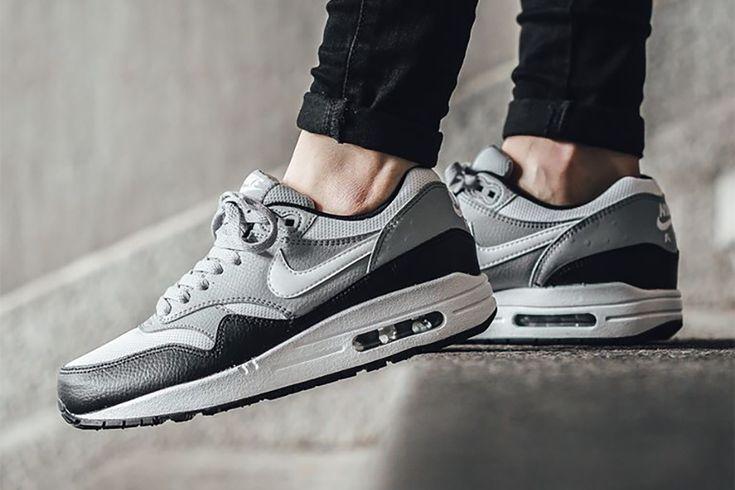 "Damskie Nike Air Max 1 ""Black / White – Wolf Grey"""