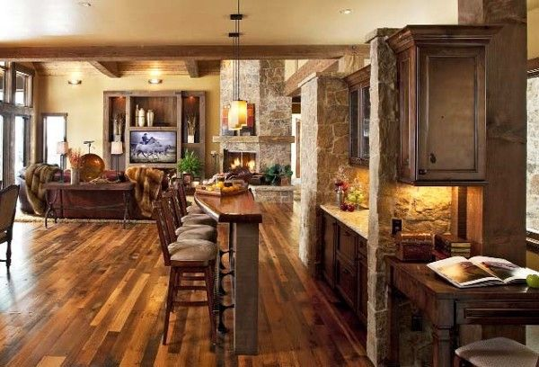Love the hardwood floors: Floors Plans, Open Floor,  Eating House,  Eating Places,  Eateri, Cabinets Color, Families Rooms, Open Kitchens, Floors Color