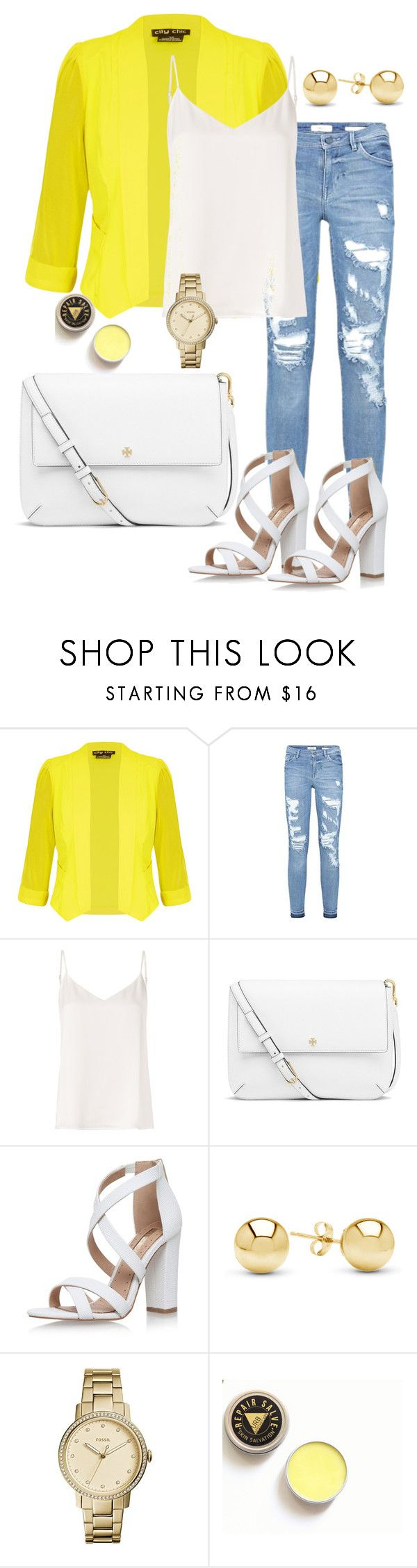 """""""style"""" by studio-al-t on Polyvore featuring мода, City Chic, L'Agence, Tory Burch, Miss KG, Jewelonfire и plus size clothing"""